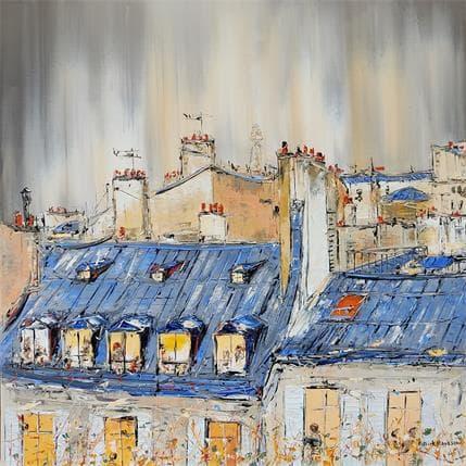 Patrick Rousseau Sous les étoiles de Paris 80 x 80 cm
