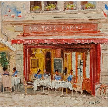 Arkady Restaurant aux trois maries 25 x 25 cm