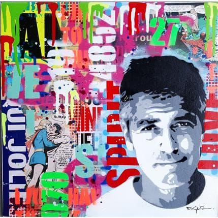 Philippe Euger George Clooney 36 x 36 cm
