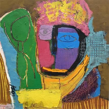 C.BOST Le prophète 36 x 36 cm