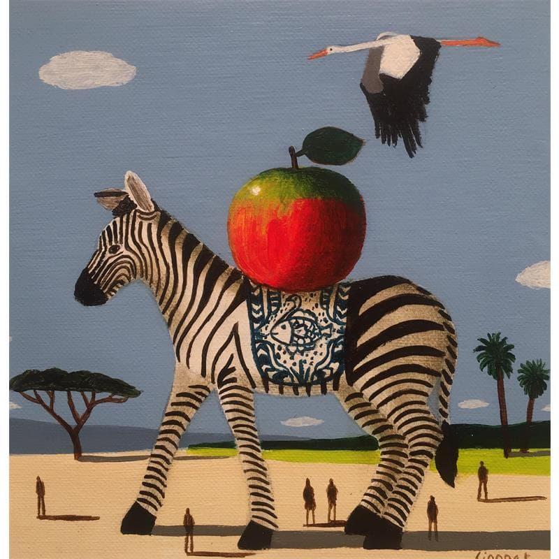 Zèbre, pomme et cigogne