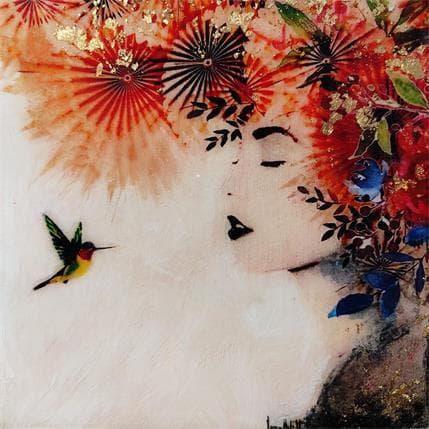 Laura Bofill Sonadora en dorado 19 x 19 cm