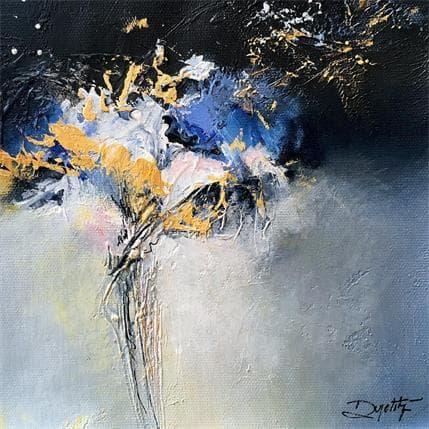 Roselyne Dupetitpré De l'or dans la nuit 19 x 19 cm