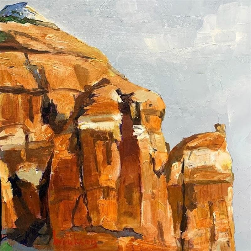 Cathedral Rock Blue on the top