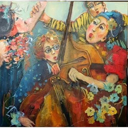 Nicole Garilli Sur un rythme endiablé 120 x 120 cm