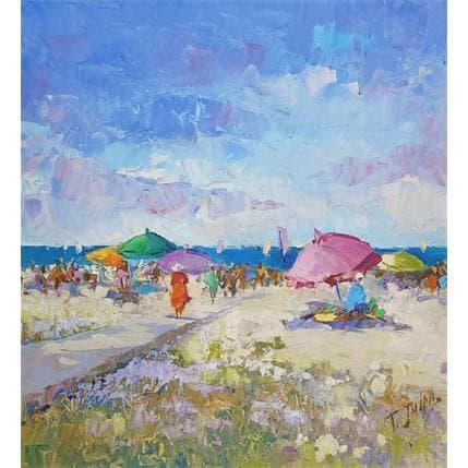 Tatiana Jmara un dia de playa 36 x 36 cm