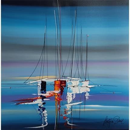 David Fonteyne LA NUIT ROMANTIQUE EN MER 80 x 80 cm