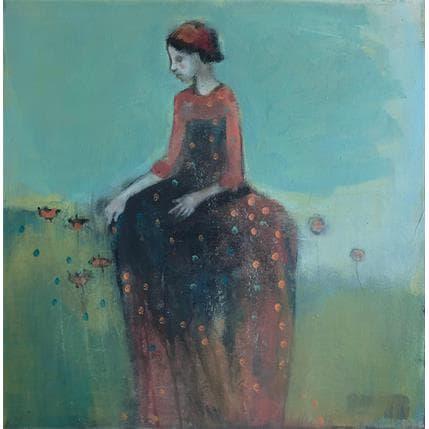 Valérie Anceaume Gutierrez Dans mon jardin 50 x 50 cm