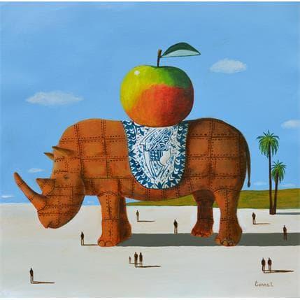 Pascal Lionnet Rhino rouillé 36 x 36 cm