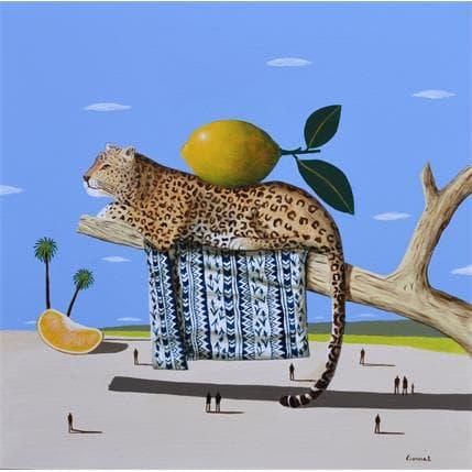 Pascal Lionnet Léopard 50 x 50 cm