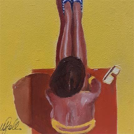 Manuela Gallo Yellow eight spikes 13 x 13 cm