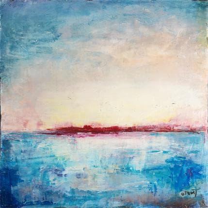 Droit Ode Incandescence sur les eaux bleues 25 x 25 cm