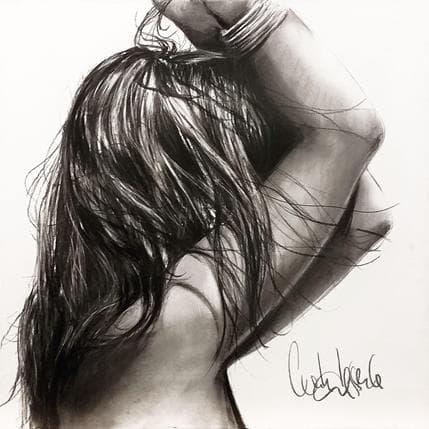 Cécile Desserle Soleil noir 50 x 50 cm