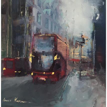 Amine Karoun Red bus 19 x 19 cm