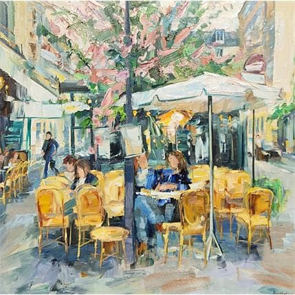 Olga NOVOKHATSKA café la palette 80 x 80 cm