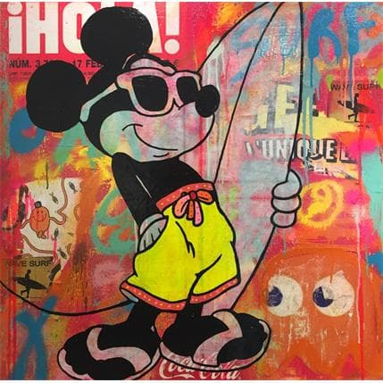 Kikayou Mickey surf 1 80 x 80 cm