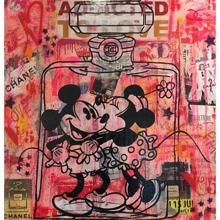 Kikayou Mickey Minnie Chanel 100 x 100 cm