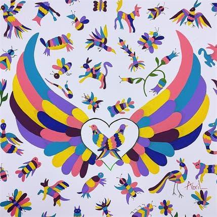 Espinoza Abril Ndäte-Corazón 36 x 36 cm