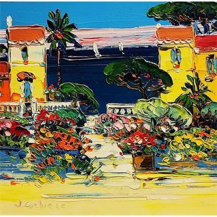 Liisa Corbière Maison sur la côte d'azur 19 x 19 cm