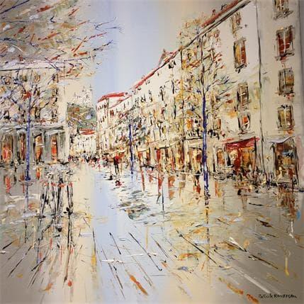 Patrick Rousseau Visiting Lyon 80 x 80 cm