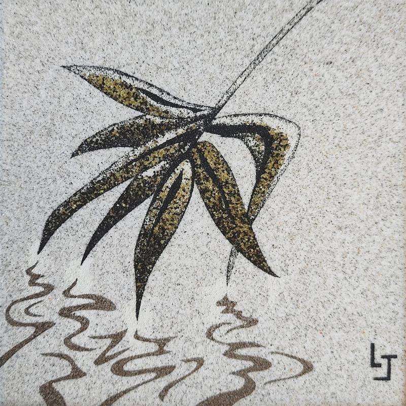 Reflet feuille de bambou