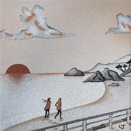 Laurence Jovys Promenade au couchant 19 x 19 cm