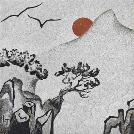 Laurence Jovys Soleil rouge 19 x 19 cm