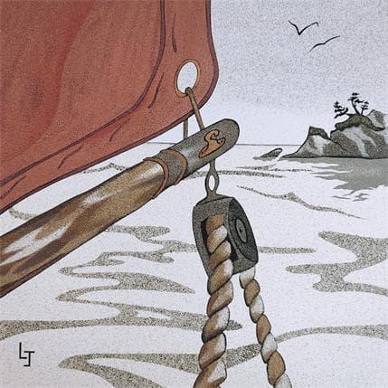 Laurence Jovys A bord 36 x 36 cm