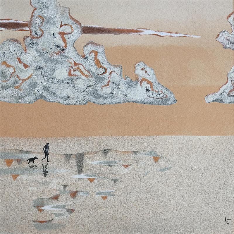 Reflets sur le sable mouillé