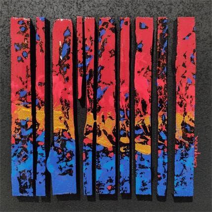 Langeron Luc BC10 Impression bleu rouge or 19 x 19 cm
