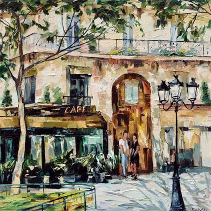 Olga NOVOKHATSKA Petite place parisienne 80 x 80 cm