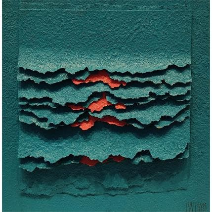 Gérard Clisson MONTEE AU CIEL EN ROSE 19 x 19 cm