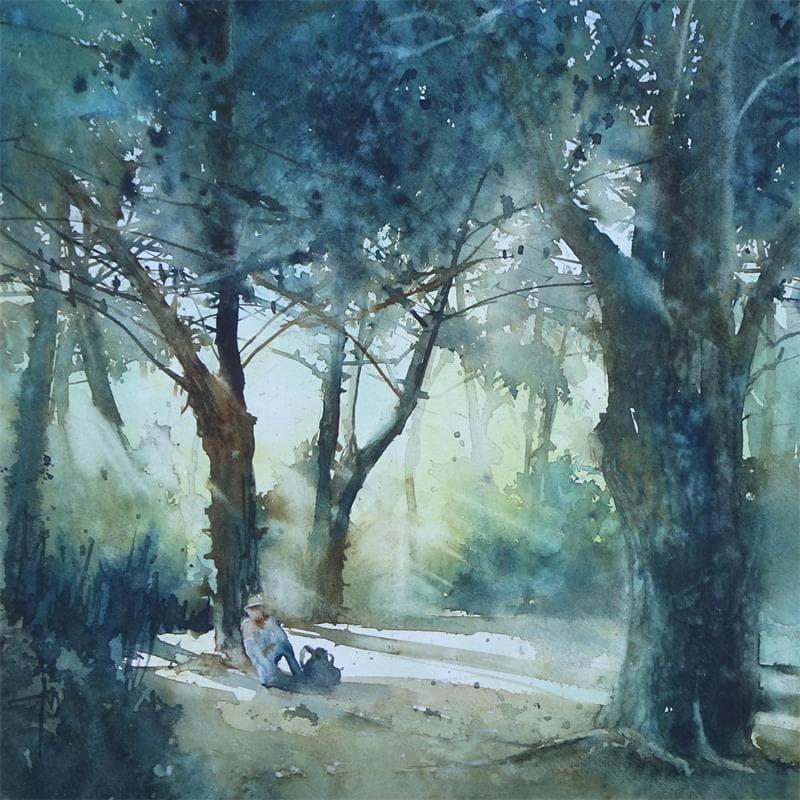 Une pause sous les pins