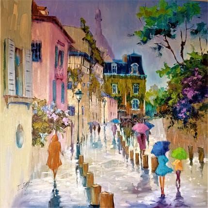 Jmara Tatiana Lluvia sobre Montmartre 100 x 100 cm