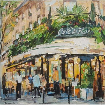 Olga NOVOKHATSKA Café de flore 50 x 50 cm