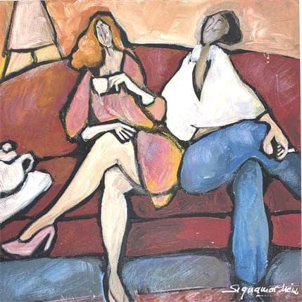 Bernard Signamarcheix Café cigarette 25 x 25 cm