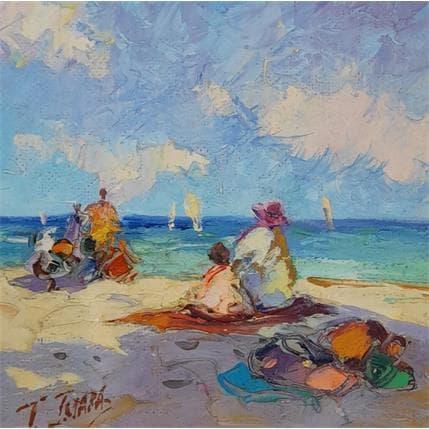 Tatiana Jmara Playa Oleo 19 x 19 cm