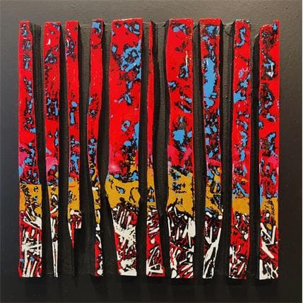 Luc Langeron Bande color 10 50 x 50 cm