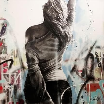 Cécile Desserle Feel free 100 x 100 cm