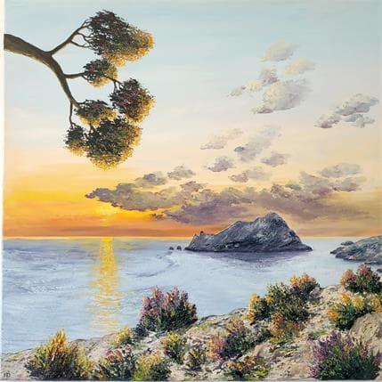 Blandin Magali Lever de couleurs 80 x 80 cm