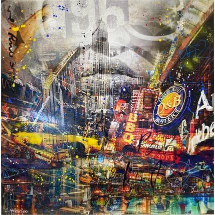Novarino Fabien Abstract City 80 x 80 cm