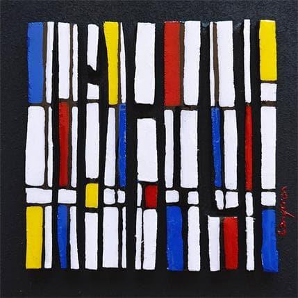 Langeron Luc Hommage Mondrian Bc9 19 x 19 cm