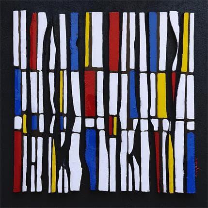 Langeron Luc Hommage Mondrian Bc 13 36 x 36 cm