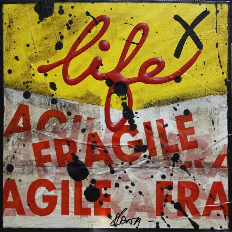 Fragile life jaune