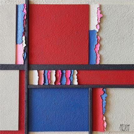 Clisson Gérard Mondrian joyeux 25 x 25 cm