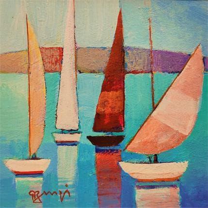 Roger Burgi AN75 La voile rouge 13 x 13 cm