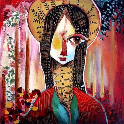 Laure Ketfa Une fleur sauvage 36 x 36 cm