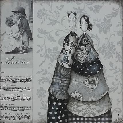 Delphine Blais Blanche et Roméo 19 x 19 cm