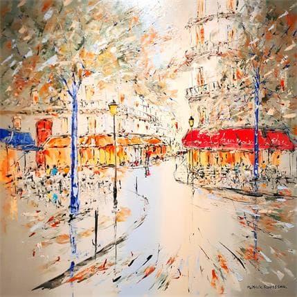Rousseau Patrick Coin de rue 80 x 80 cm
