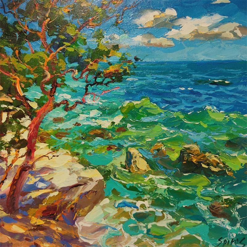 Caribbean sea at noon